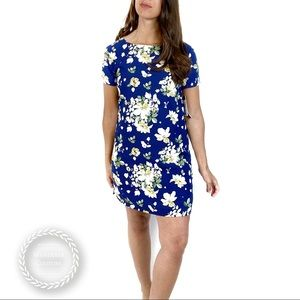 LULUS Floriana Short Sleeve Floral Shift Dress